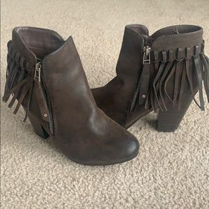 Breckelle Fringed Booties